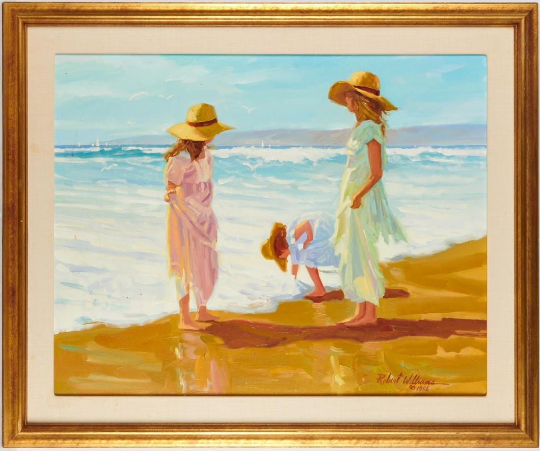 Robert Williams, beachscape painting