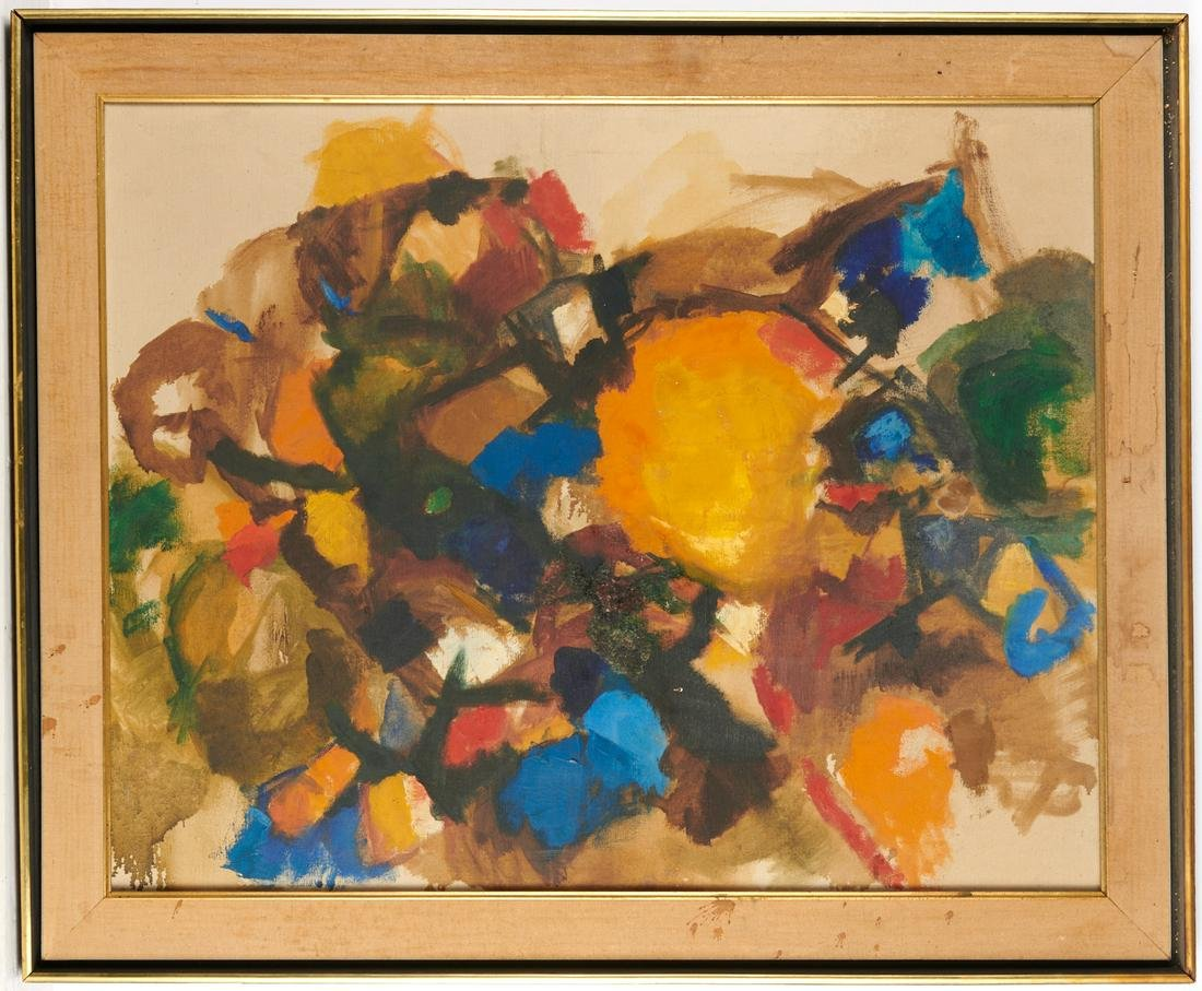 V. Traylor, abstract painting, 1959