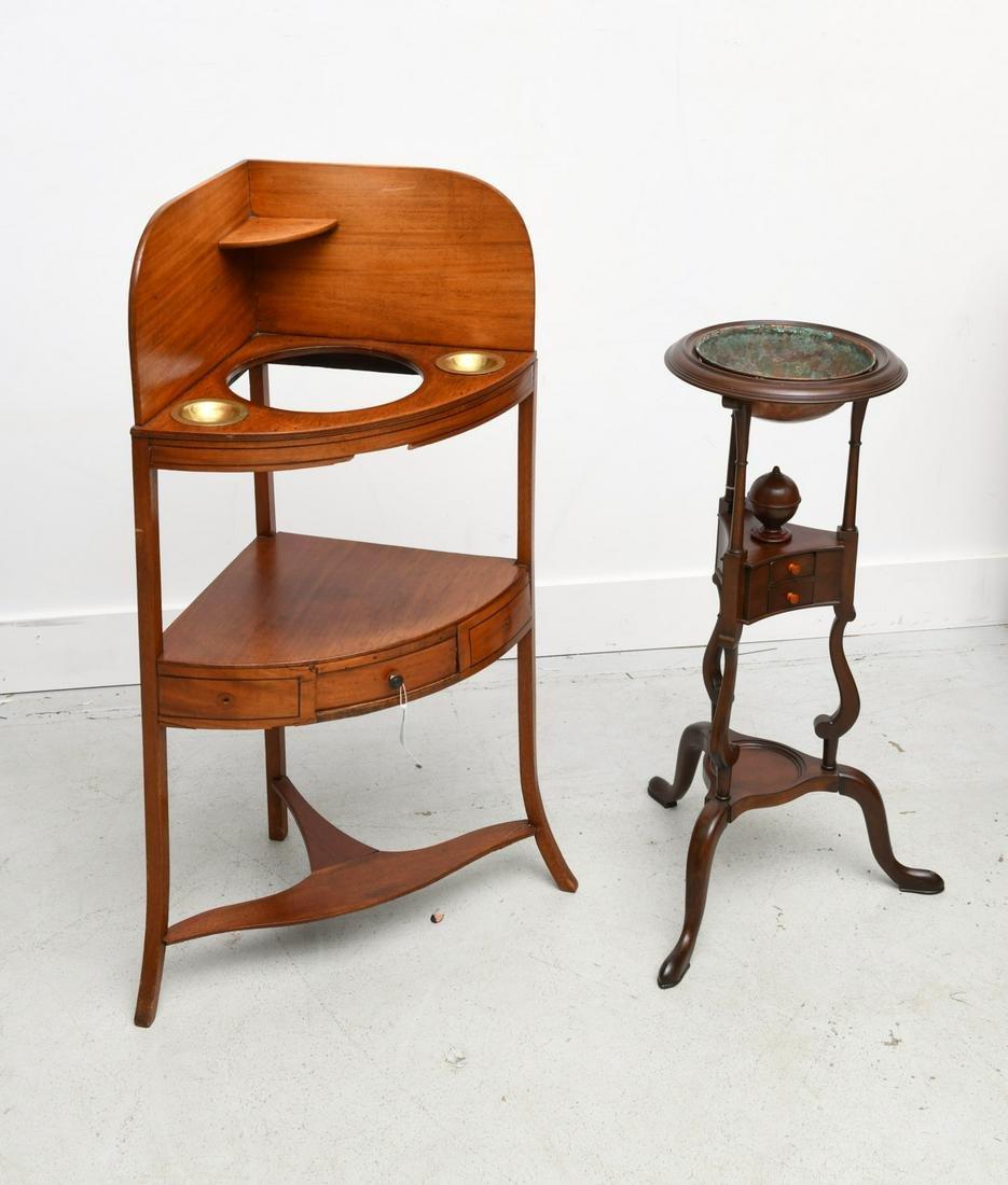 (2) antique mahogany wash stands