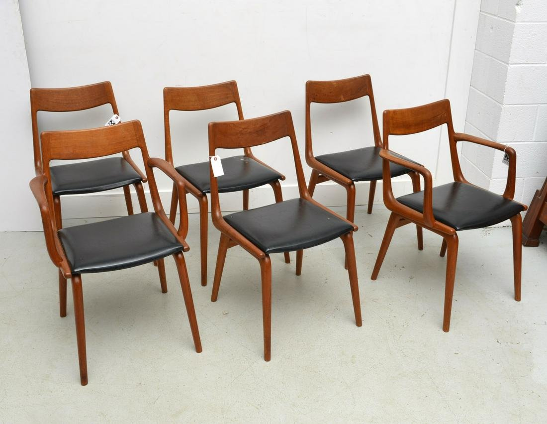 Erik Christensen, (6) teak dining chairs