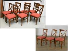 """Set (10) """"Four Hands"""" Regency style dining chairs"""