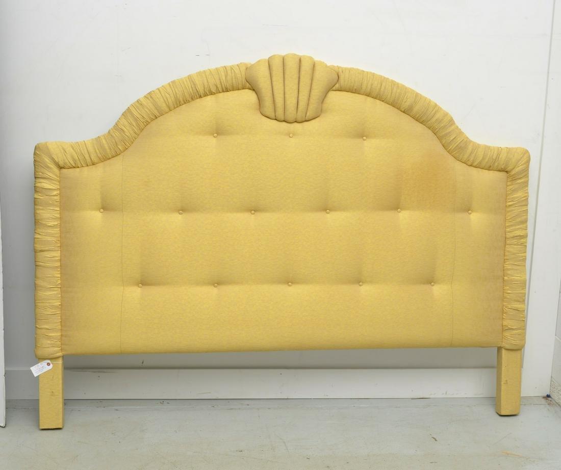 Designer Venetian style upholstered headboard