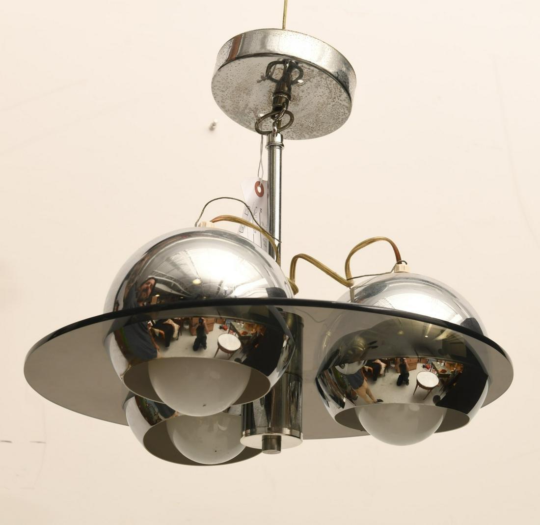 Reggiani style chromed eyeball chandelier