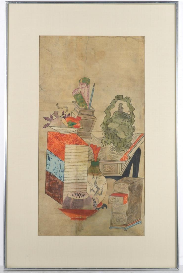 Korean Chaekgeori painting