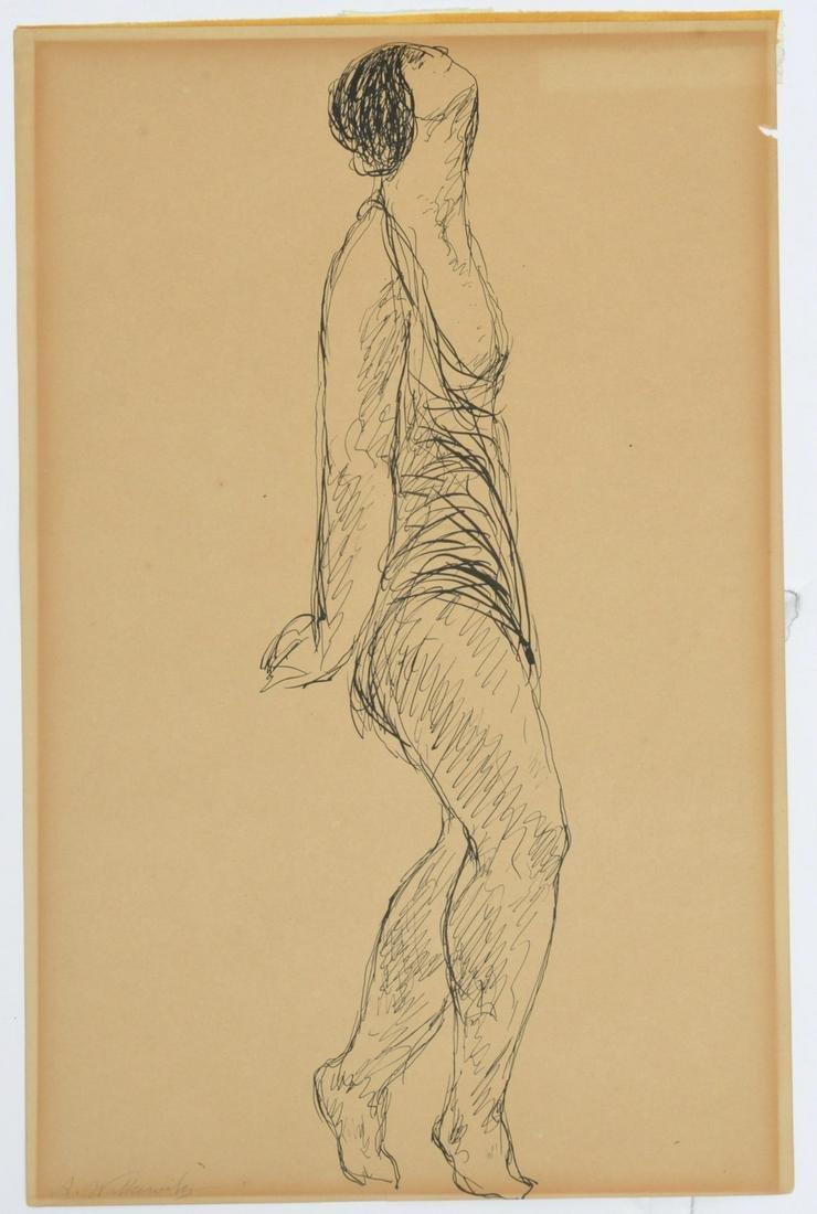Abraham Walkowitz, drawing