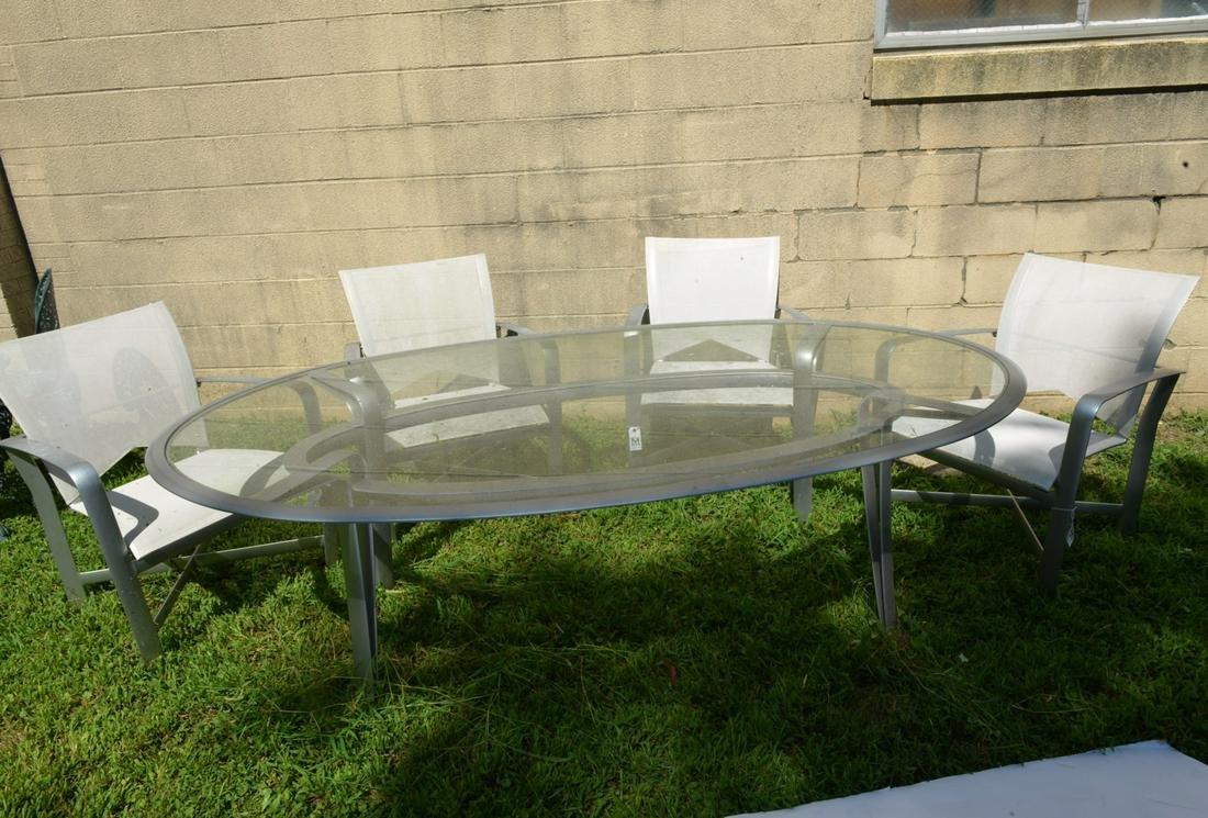 Brown Jordan outdoor patio dining set