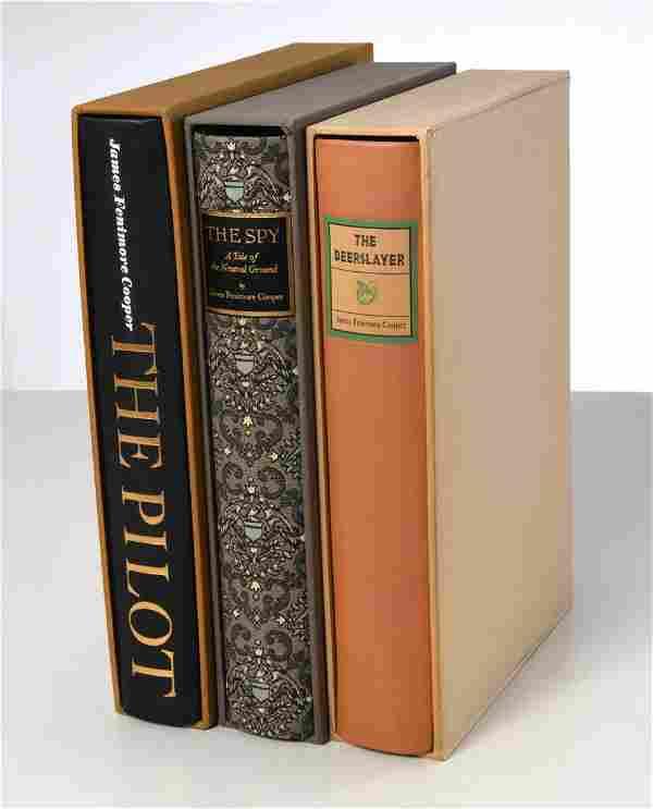 BOOKS: (3) Vols, LEC, James Fenimore Cooper