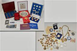 Large collection coins and medals