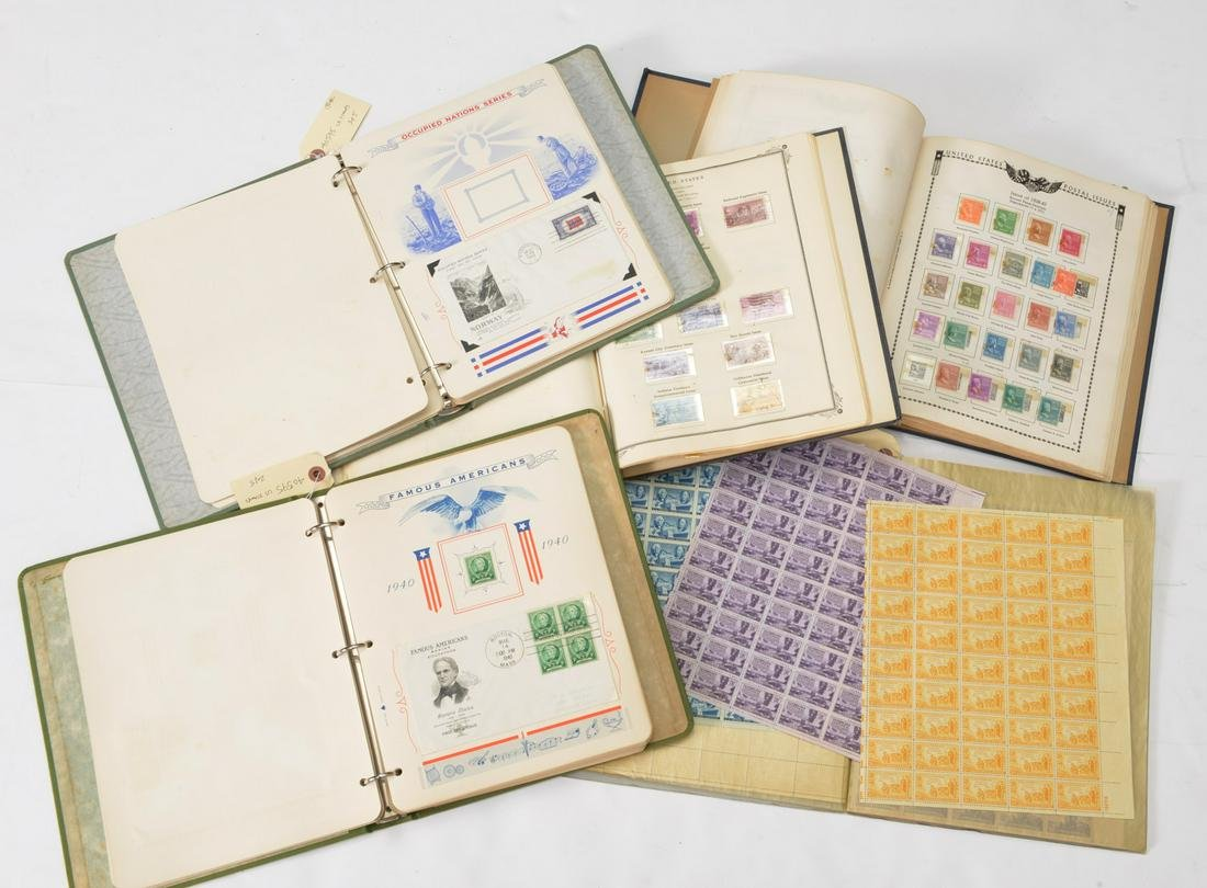 Collection U.S. 1st day covers & stamps 1930s-50s