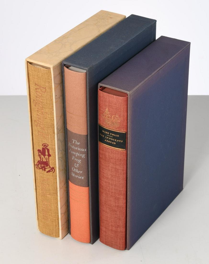 BOOKS: (3) Vols LEC, Mark Twain incl. Roughing It