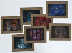 "Lloyd Evans, (7) set designs for ""Il Trovatore"""