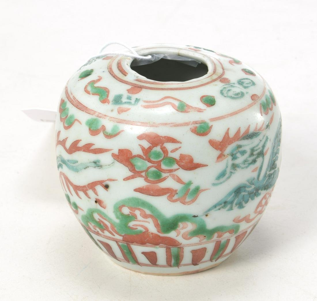 Transitional Ming small porcelain jar
