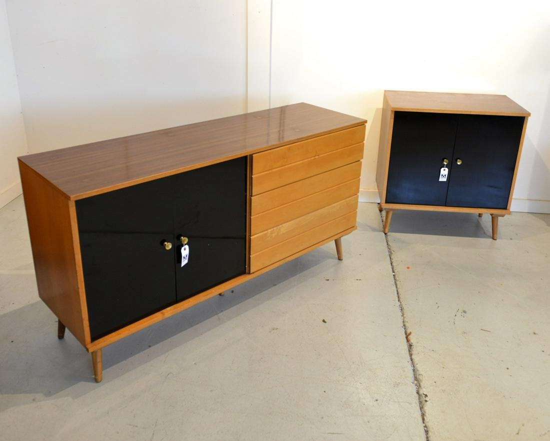 Paul McCobb style sideboard and cabinet