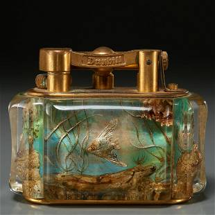 """Rare Alfred Dunhill """"Aquarium"""" lighter"""