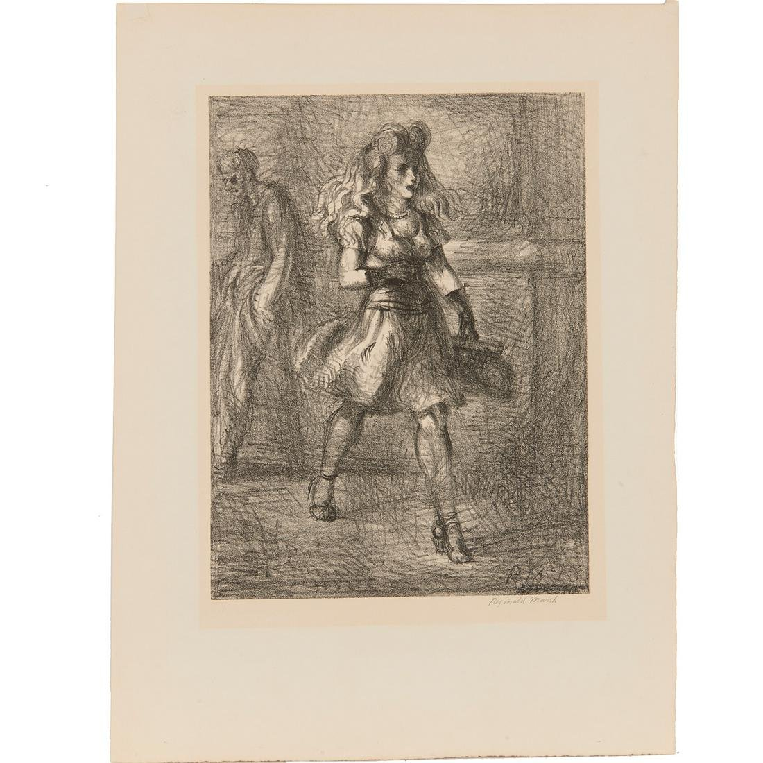 Reginald Marsh, lithograph