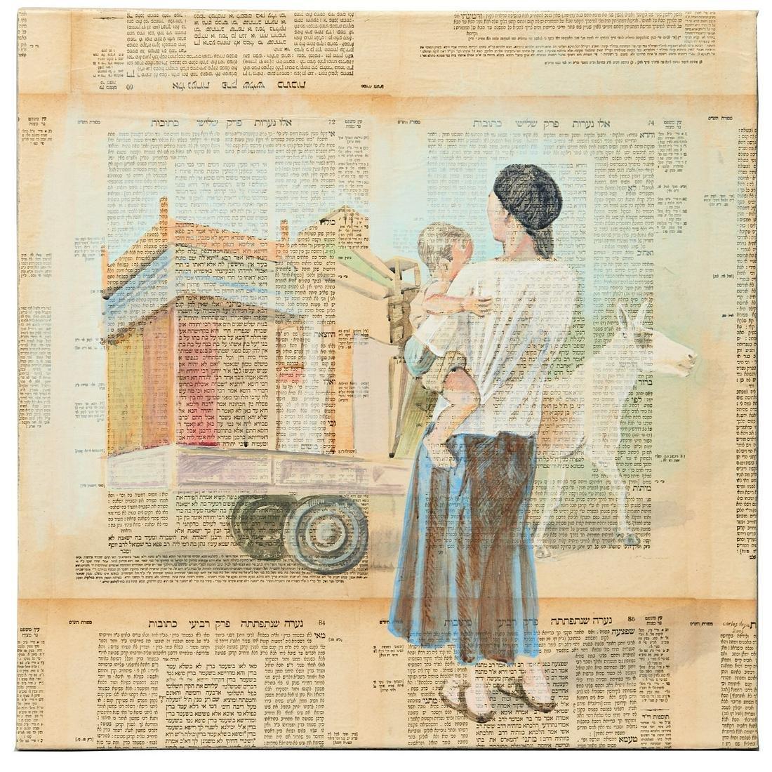 Carlos Vega, mixed media on canvas, 2005