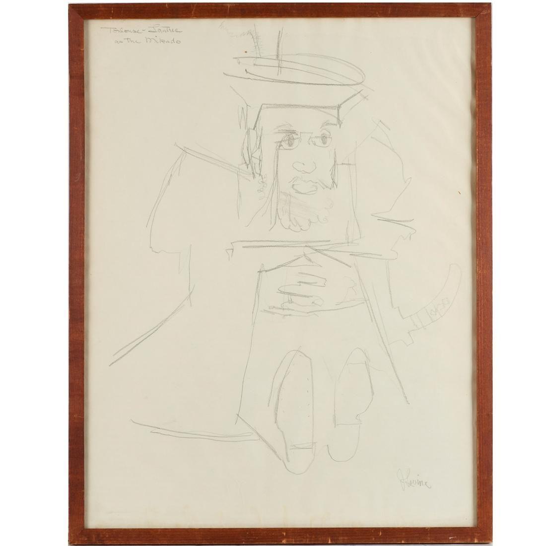 Jack Levine, sketch drawing