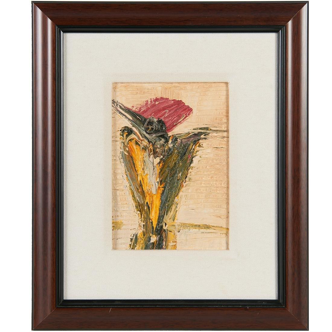 Hunt Slonem, oil on canvas, 2001