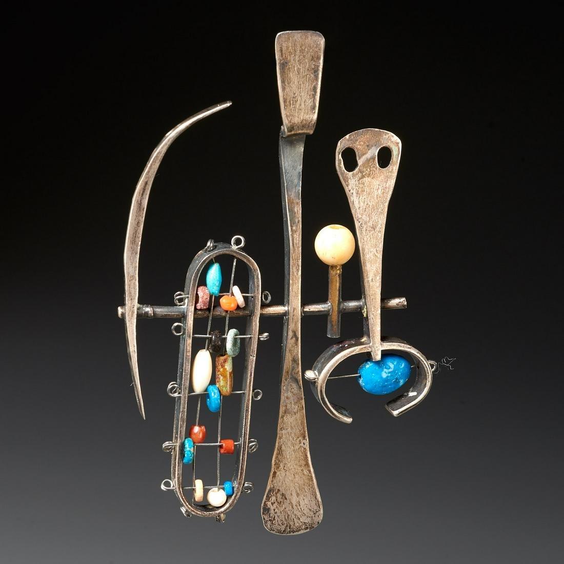Sammy Gee, modernist silver pendant