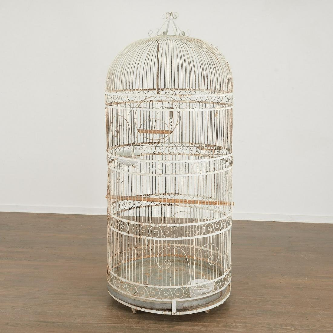Monumental 72-inch French wire birdcage