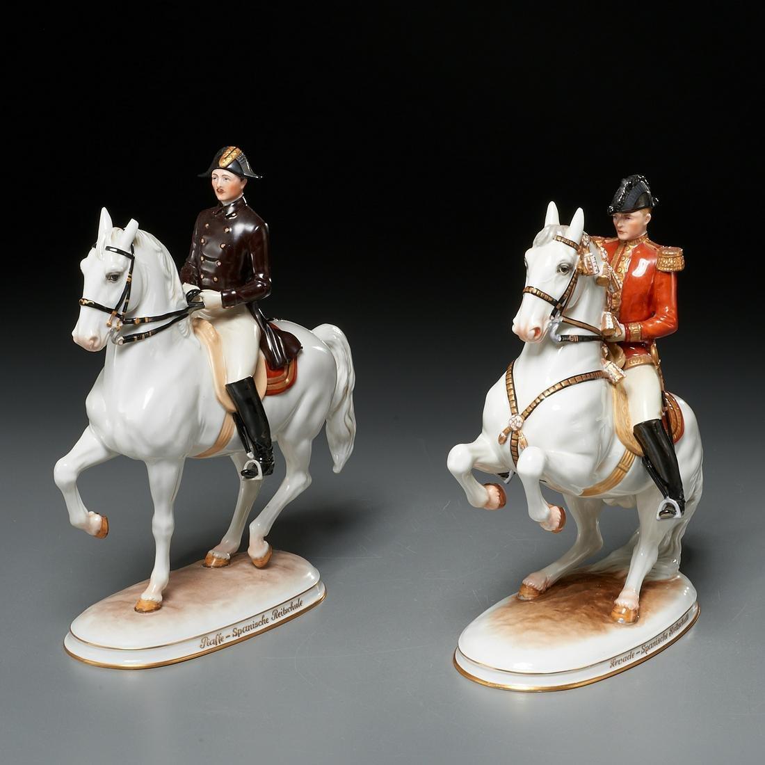 (2) Vienna Augarten Wien regimental figures