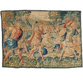 Fine and large Brussels tapestry panel