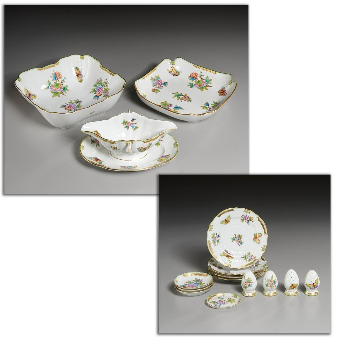 (15) Herend Porcelain Table Articles