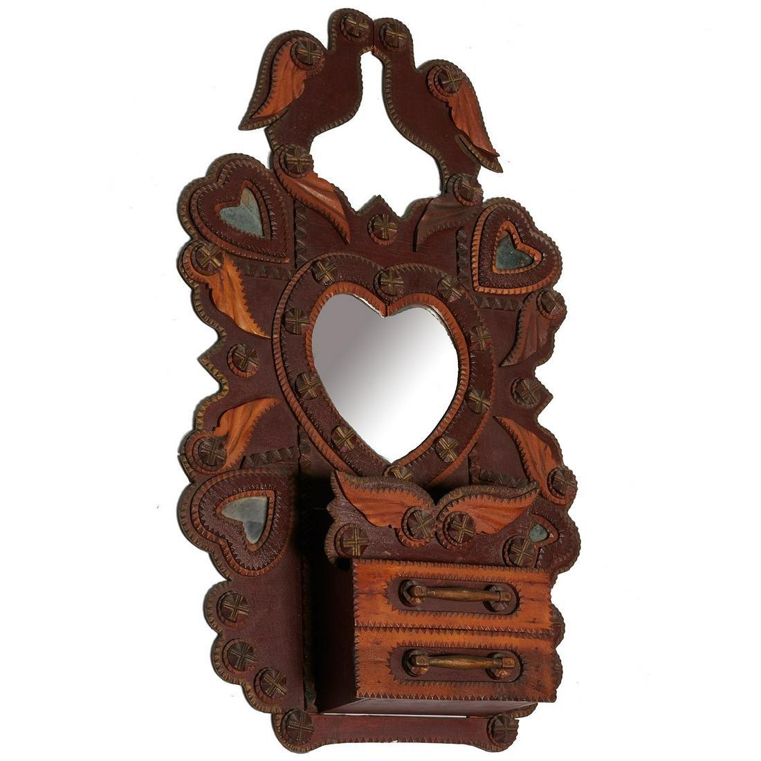 John Zadzora (attrib), Tramp Art mirror