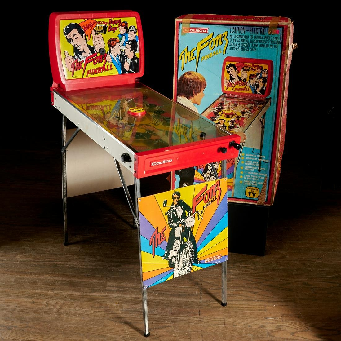 "Vintage Coleco ""The Fonz"" pinball machine"
