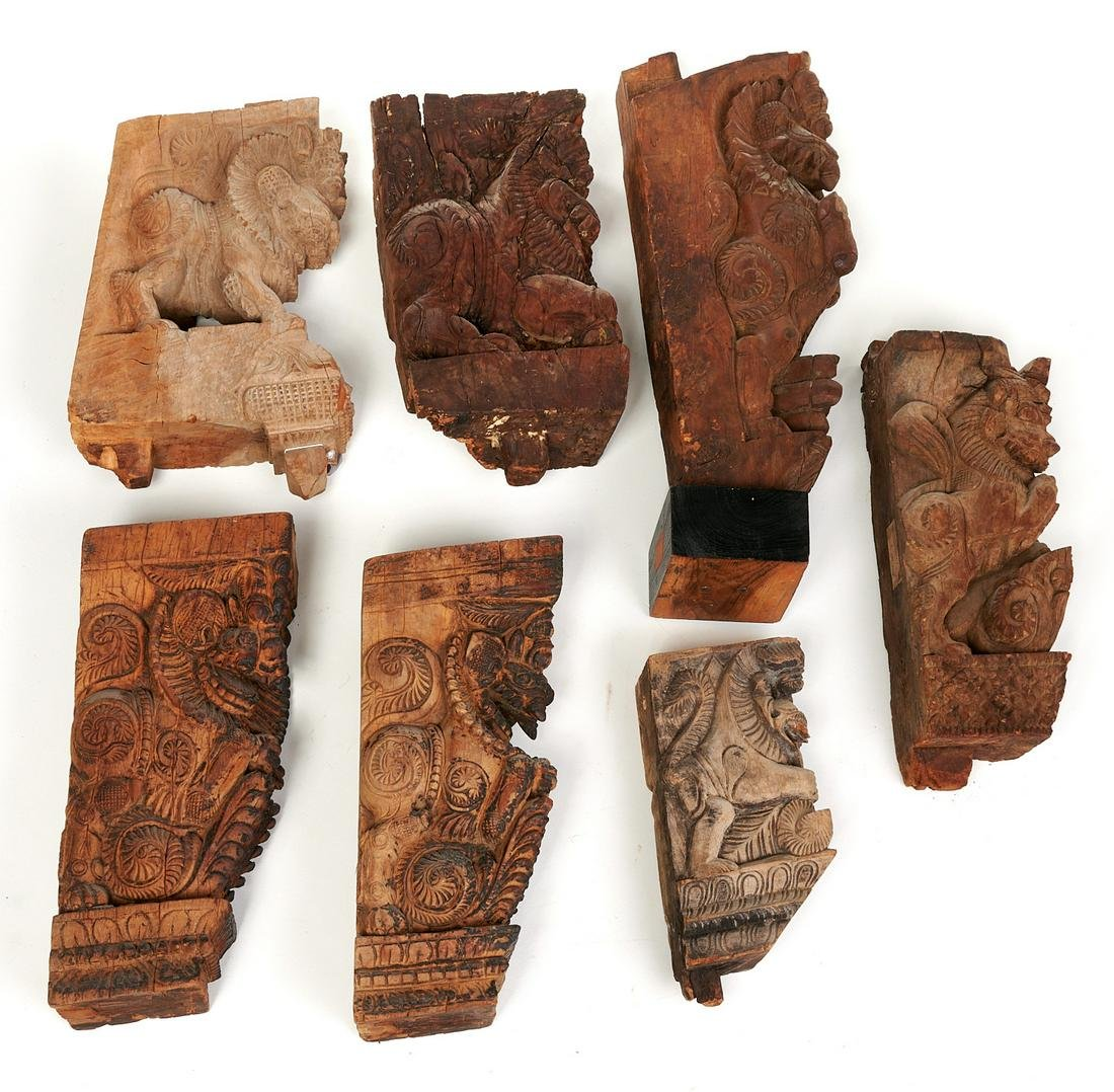 Southeast Asian carved architectural elements