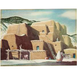 Sandor Bernath, pueblo painting