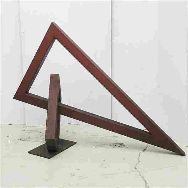 Modernist Corten steel sculpture
