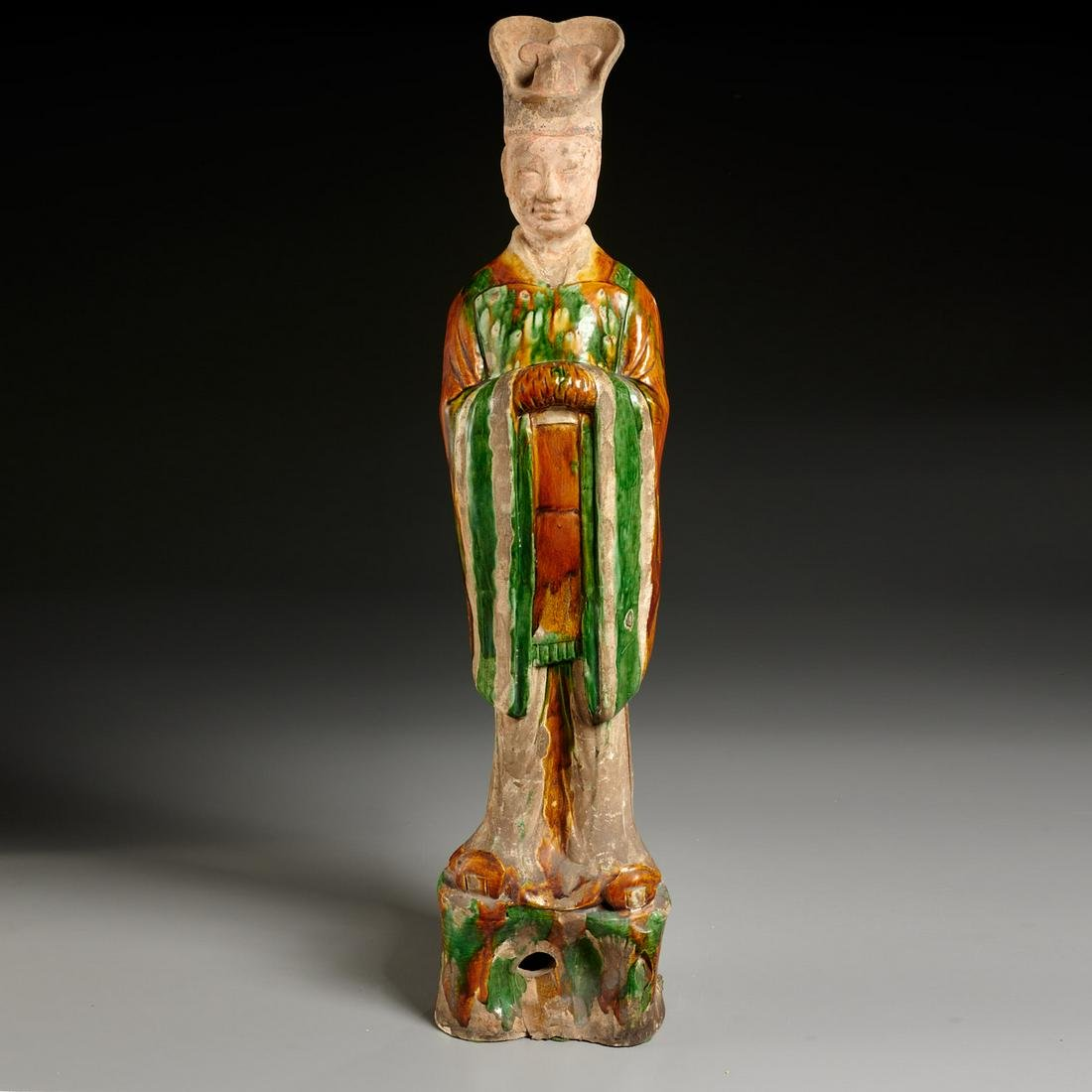 Large Tang era Sancai-glazed pottery figure