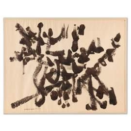 David Smith, ink and tempera, 1958, ex-Ben Heller