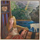 Mati Klarwein large scale oil on canvas 1982