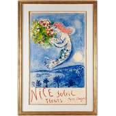 Marc Chagall signed color lithograph 1962