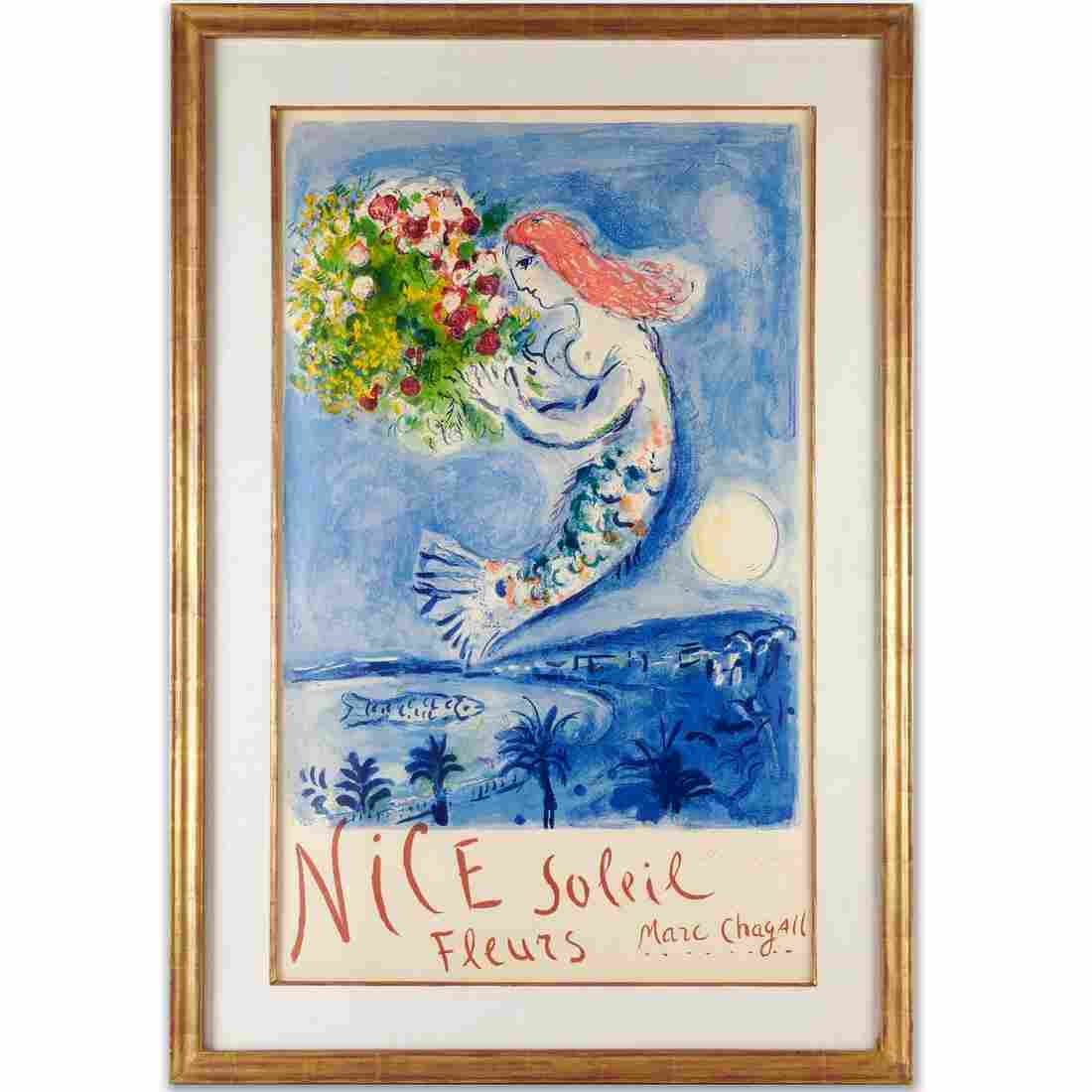Marc Chagall, signed color lithograph, 1962