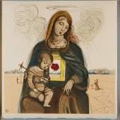 Salvador Dali, color lithograph, 1964