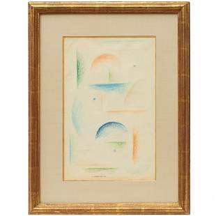 Abraham Walkowitz, colored crayon on paper, 1913