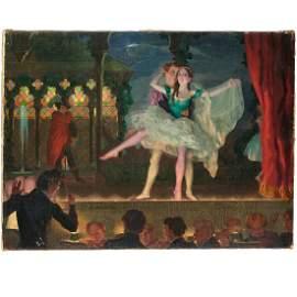 Konstantin Somov, oil on canvas, 1923