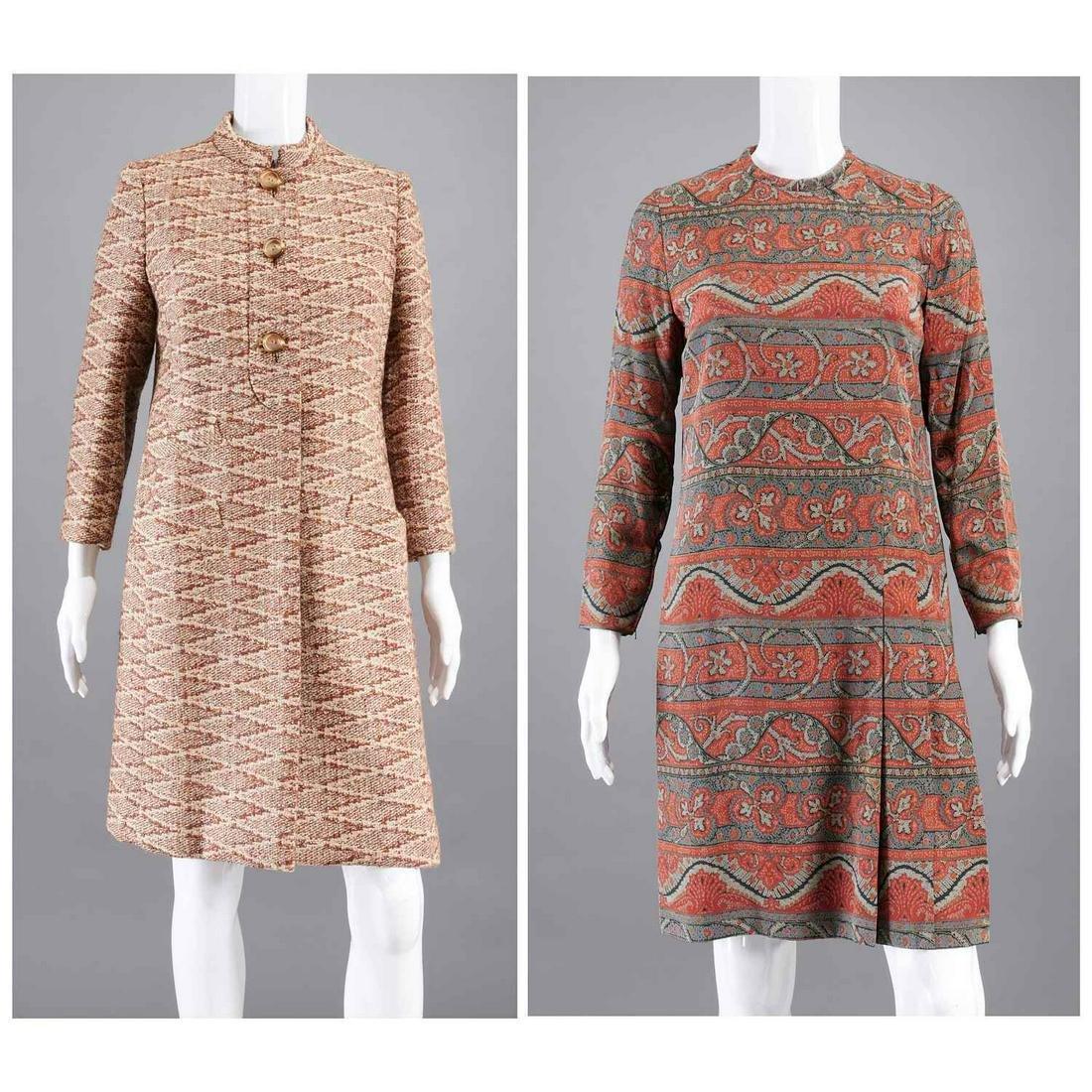 Vintage Bill Blass coat dress ensemble