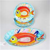 La Musa Italian ceramic fish set for Saks 5th Ave.