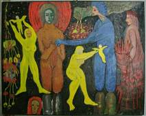 Werner Brause large scale oil on canvas 1986
