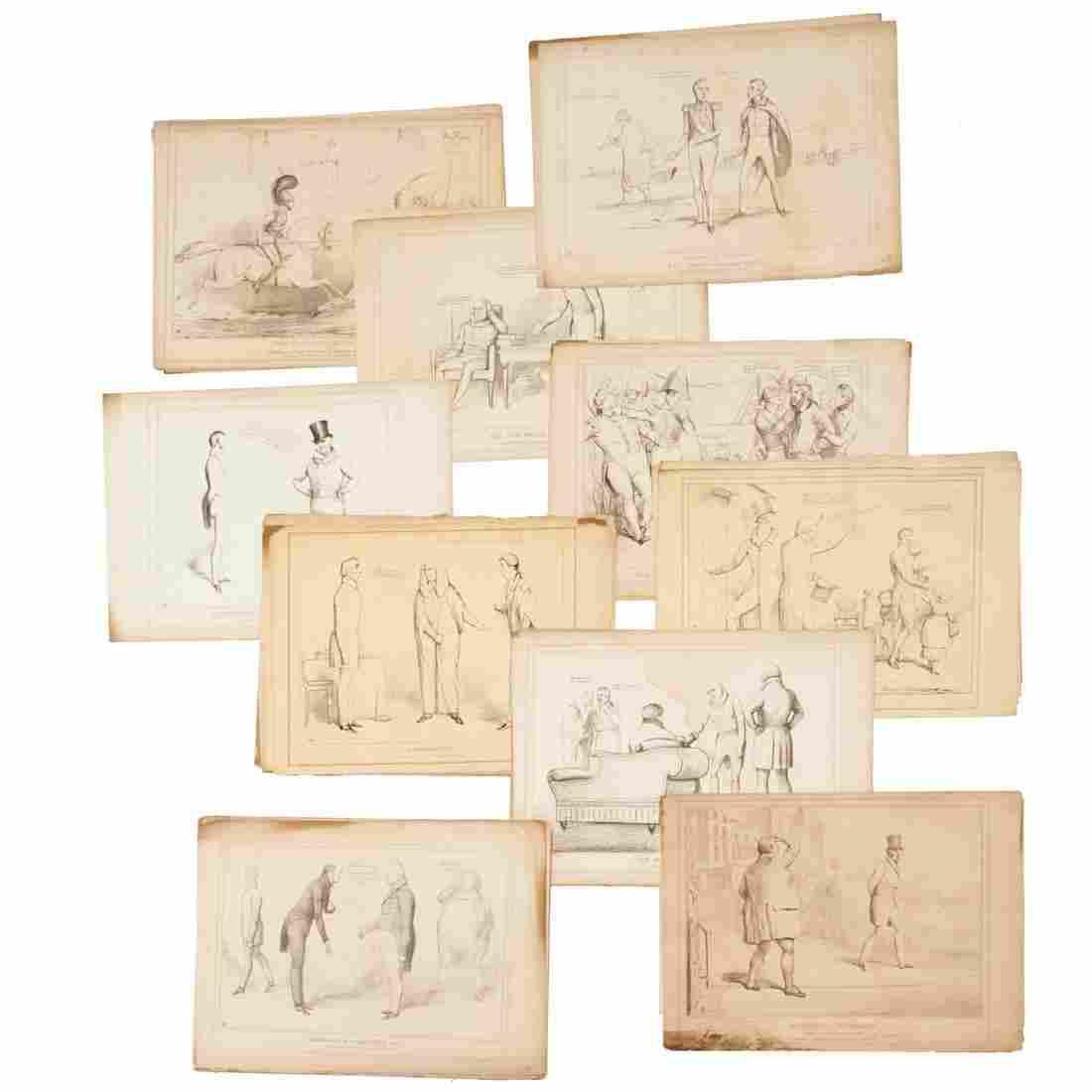"John Doyle ""HB"", large collection prints"