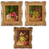 Vincent Clare, (3) still life paintings