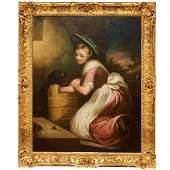 James Northcote attrib oil on canvas c 1820