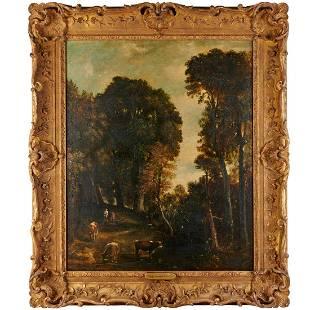 John Constable (attrib), oil on canvas