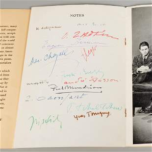 Artists in Exile, signed catalog