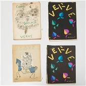 Verve No. 8, 24, 25-26, one signed Marc Chagall