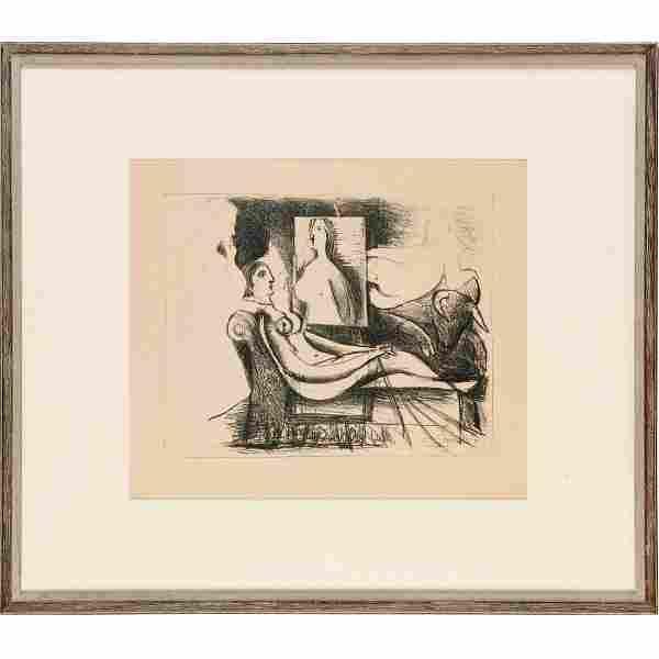 Pablo Picasso, b/w lithograph, 1930